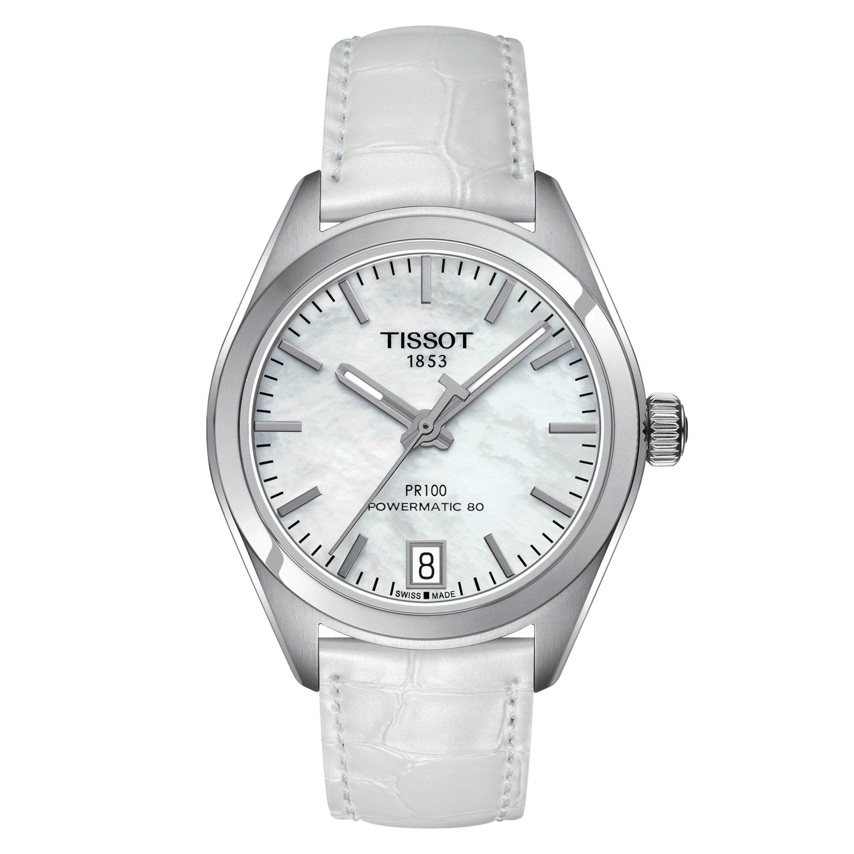 Tissot T-Classic PR 100 Powermatic 80 Date White - Watches & Crystals