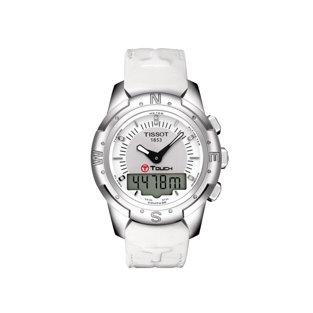 Tissot T-Touch II Solar Chronograph Date White - Watches & Crystals