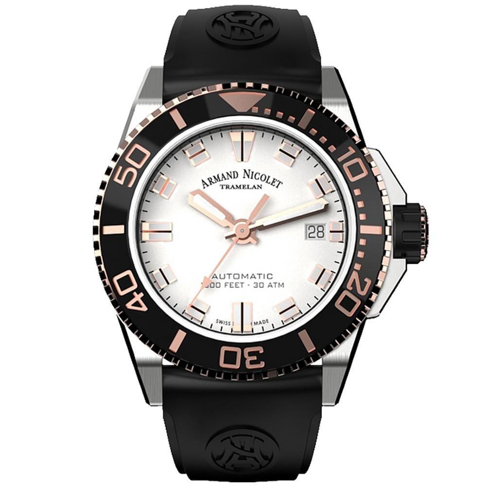 Title: Armand Nicolet JS9-41 Silver Stainless Steel - Watches & Crystals