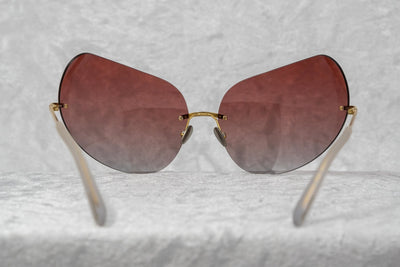 Todd Lynn Sunglasses Special Frame Gold and Burgundy Lenses - TL5C3SUN - Watches & Crystals