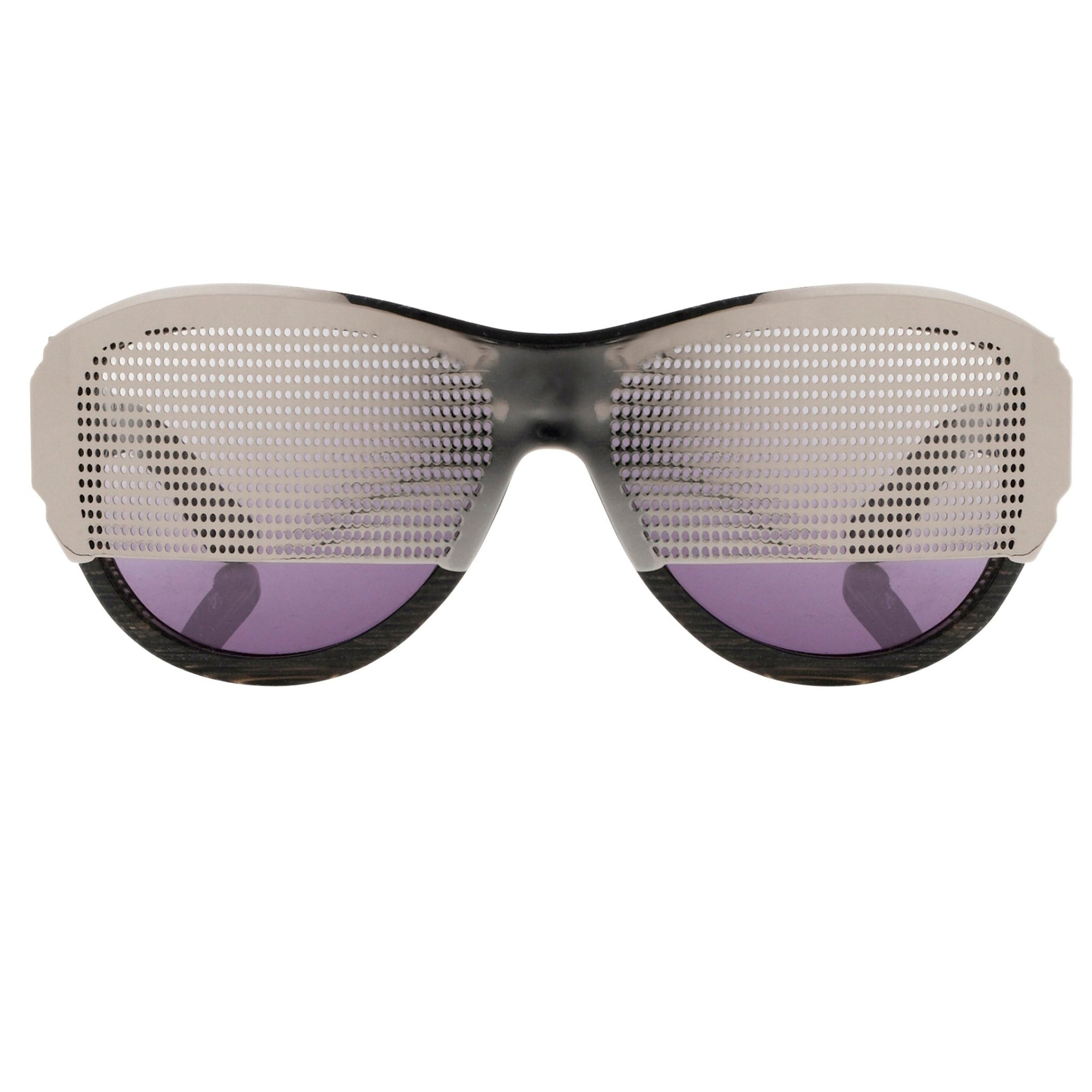 Todd Lynn Sunglasses Special Frame Silver/Black and Purple Lenses - TL2C1SUN - Watches & Crystals