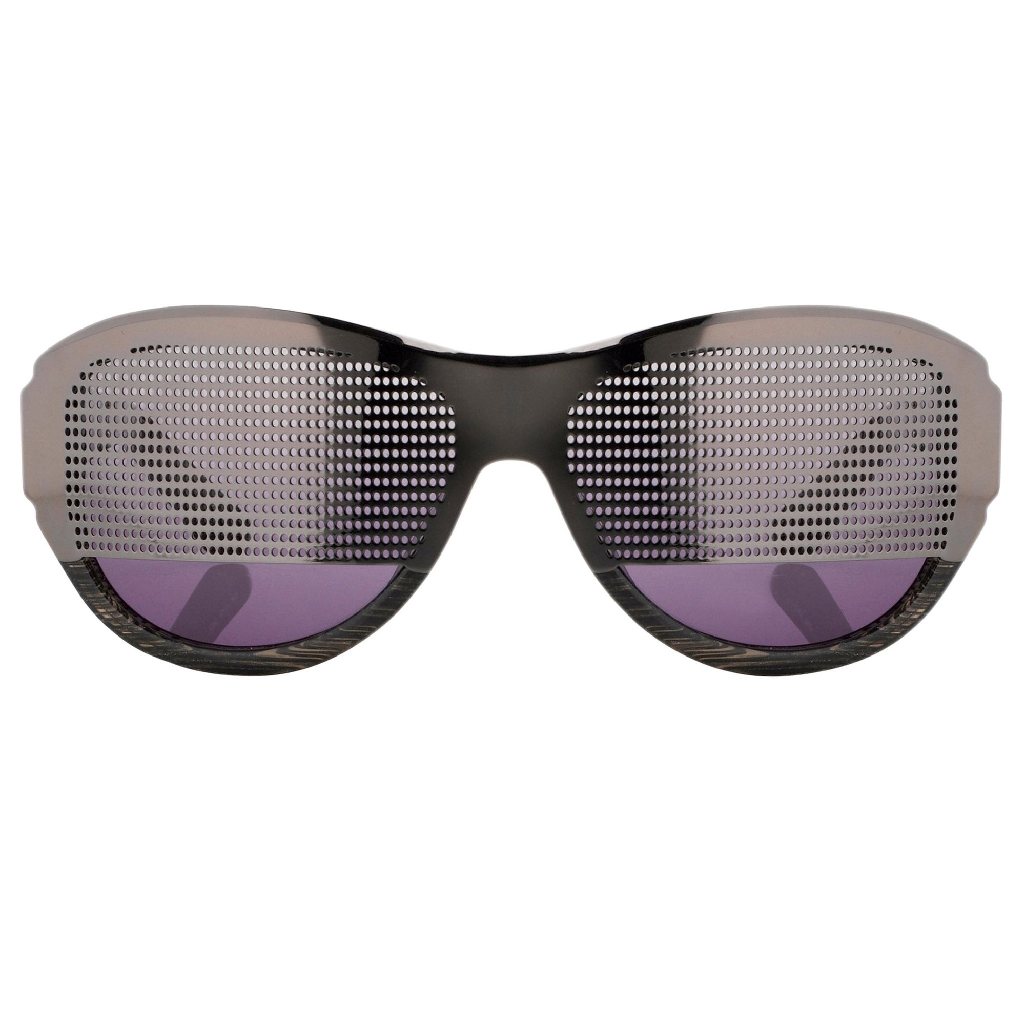 Todd Lynn Sunglasses Special Frame Silver/Black and Purple Lenses - TL2C3SUN - Watches & Crystals