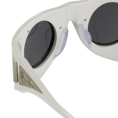 Todd Lynn Sunglasses Special Frame White/Gold and Grey Lenses - TL3C3SUN - Watches & Crystals