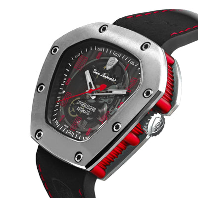 Tonino Lamborghini Automatic Spyderleggero Skeleton Red - Watches & Crystals