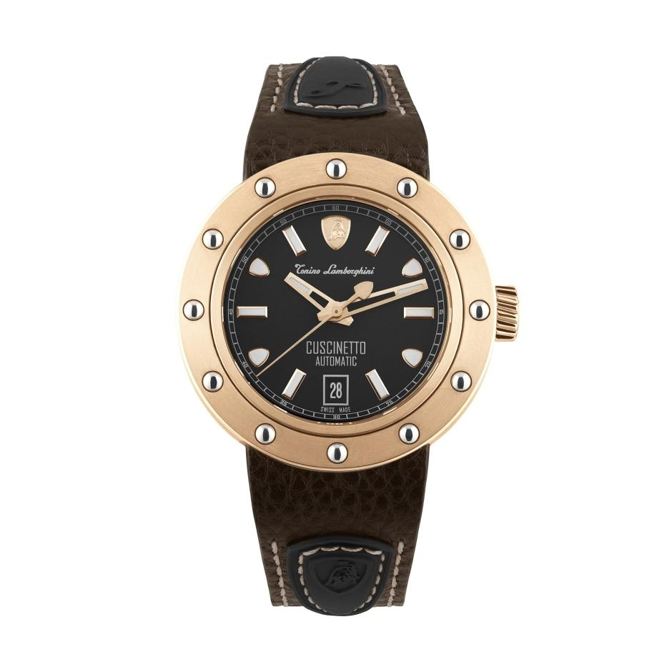 Tonino Lamborghini Cuscinetto Date IP Rose Gold - Watches & Crystals