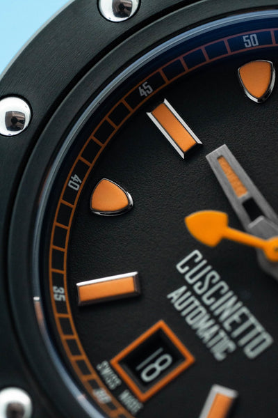 Tonino Lamborghini Cuscinetto Date Orange - Watches & Crystals