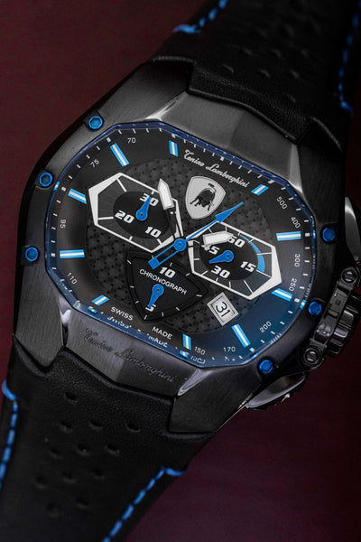 Tonino Lamborghini GT1 Chronograph Date Blue - Watches & Crystals