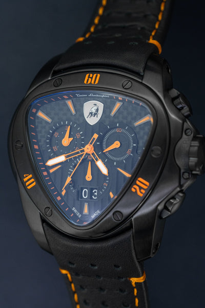 Tonino Lamborghini Spyder Chronograph Date Orange - Watches & Crystals