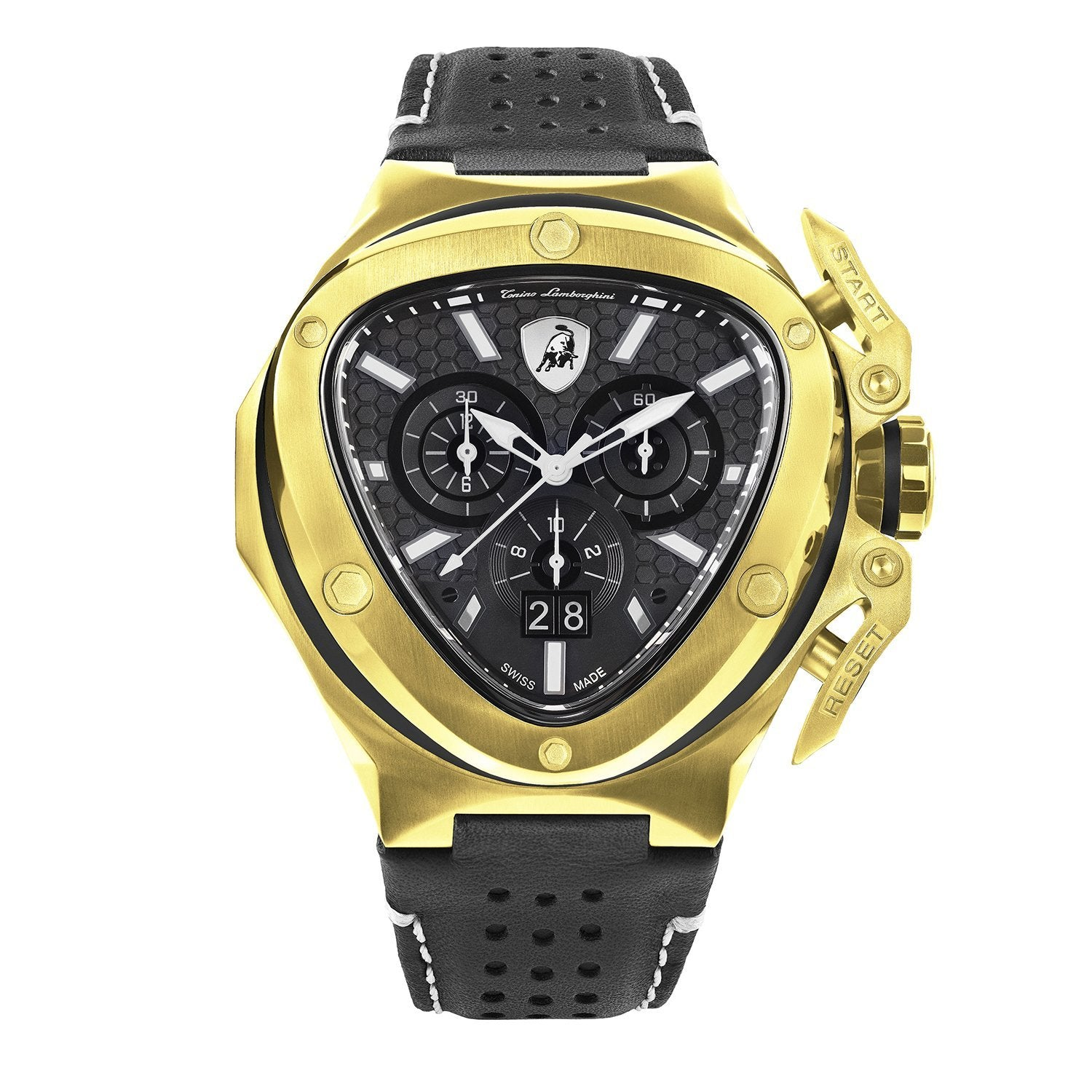 Tonino Lamborghini Spyder X Chronograph Date Gold - Watches & Crystals