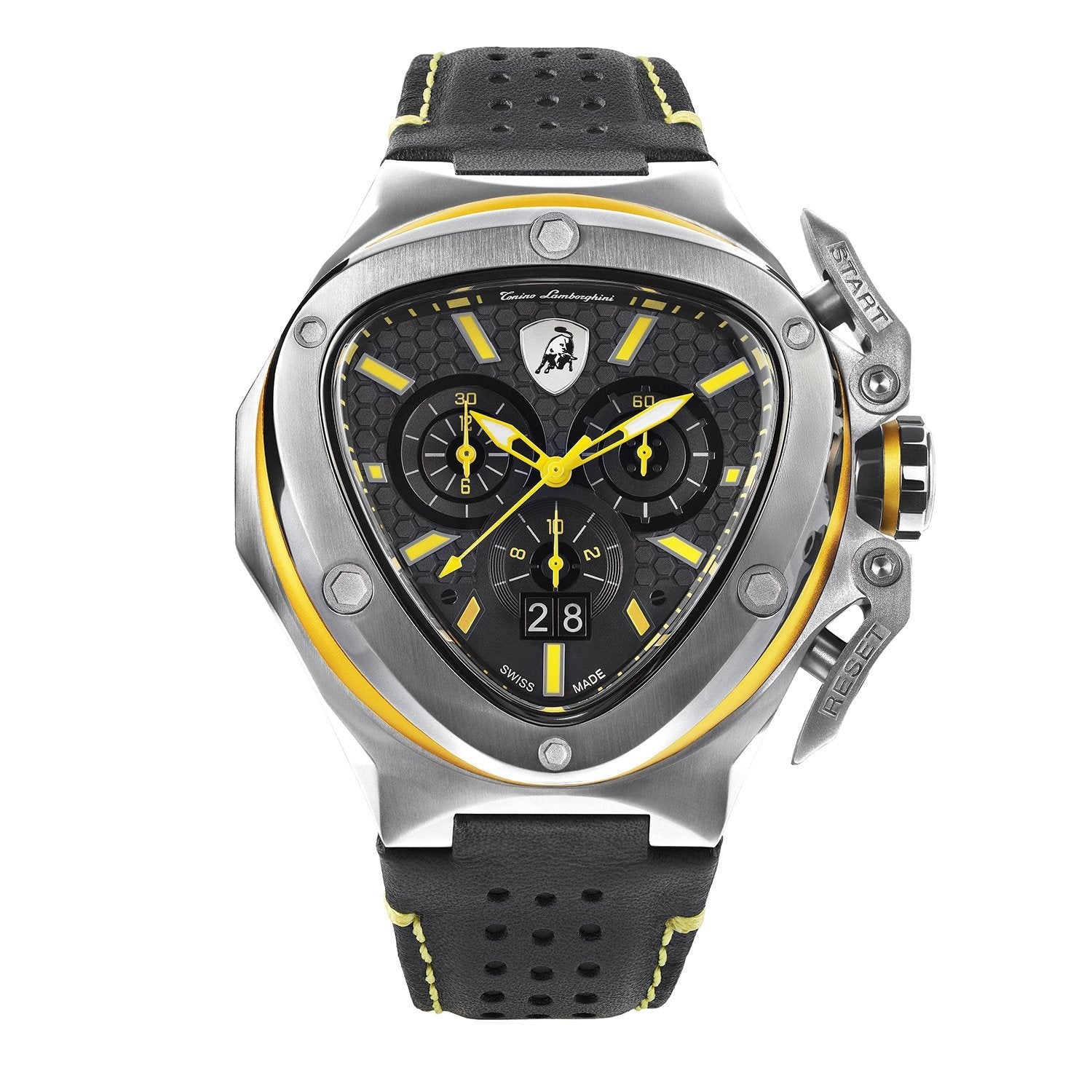 Tonino Lamborghini Spyder X Chronograph Date Steel Yellow - Watches & Crystals