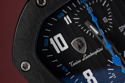 Tonino Lamborghini Spyderleggero Chronograph Day Date Blue - Watches & Crystals