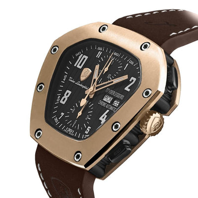 Tonino Lamborghini Spyderleggero Chronograph Day Date IP Rose Gold - Watches & Crystals
