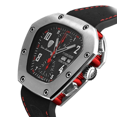 Tonino Lamborghini Spyderleggero Chronograph Day Date Red - Watches & Crystals