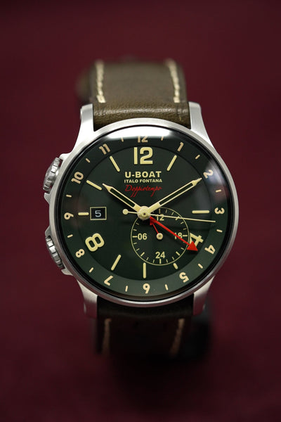 U-Boat 1938 Doppiotempo GMT Date Green - Watches & Crystals