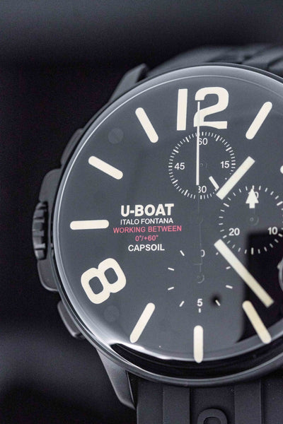 U-Boat Capsoil Chronograph Black DLC - Watches & Crystals