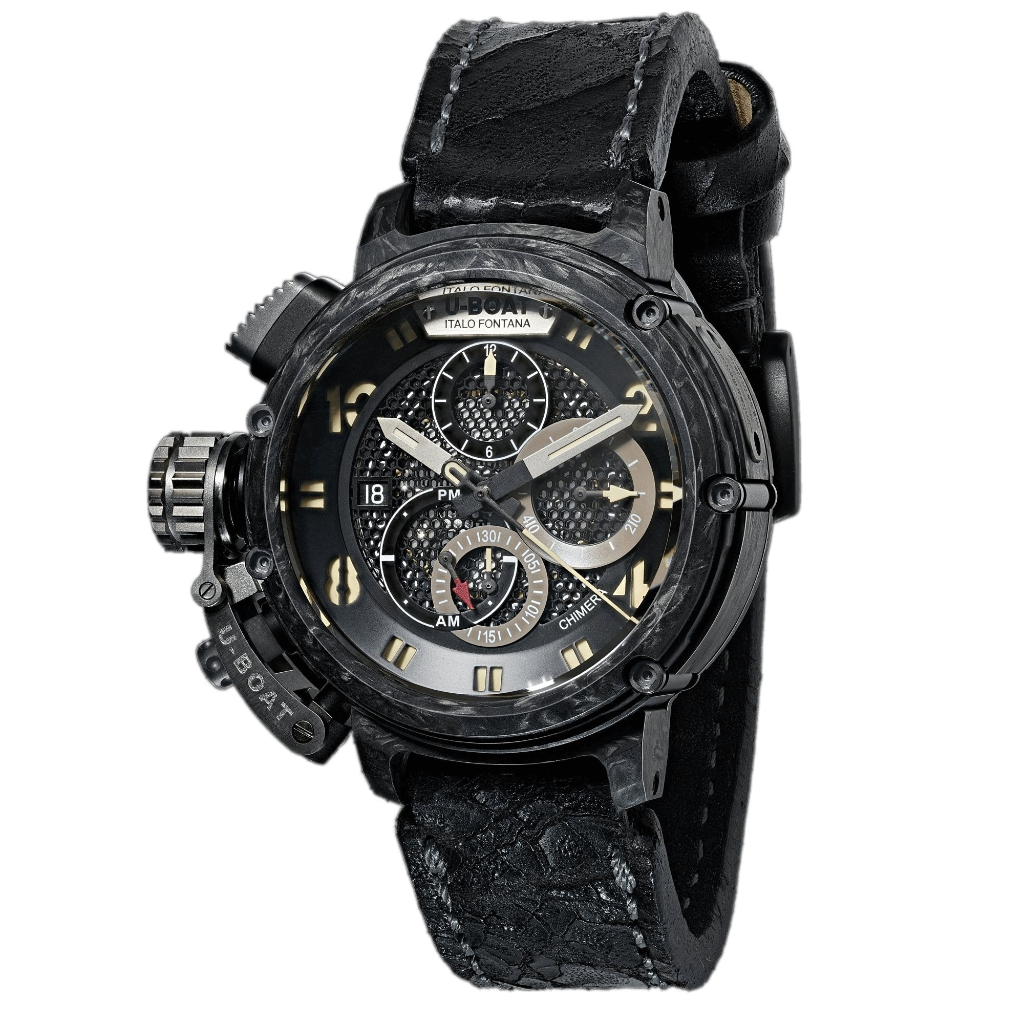 U-Boat Chimera 46 Chronograph Carbon/Titanium Limited Edition - Watches & Crystals