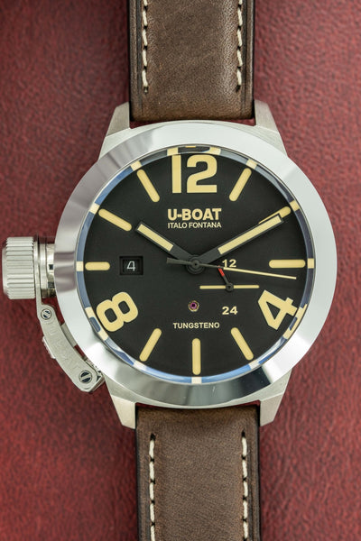 U-Boat Classico 45MM Date Black - Watches & Crystals