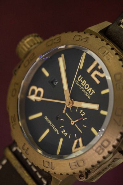 U-Boat Doppiotempo 46MM Date Bronze - Watches & Crystals