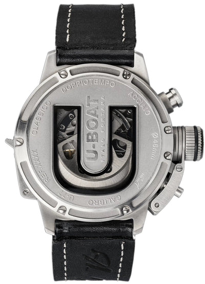 U-Boat Doppiotempo Chronograph Date Leather Strap - Watches & Crystals