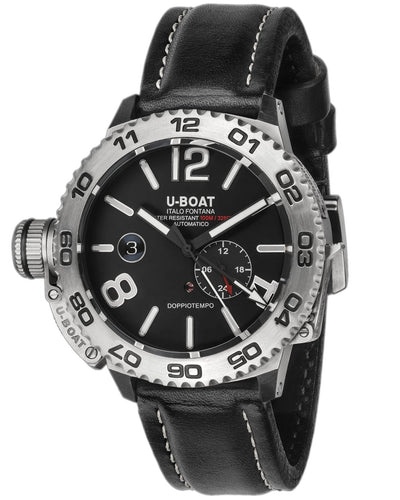 U-Boat Doppiotempo Date Leather Strap - Watches & Crystals