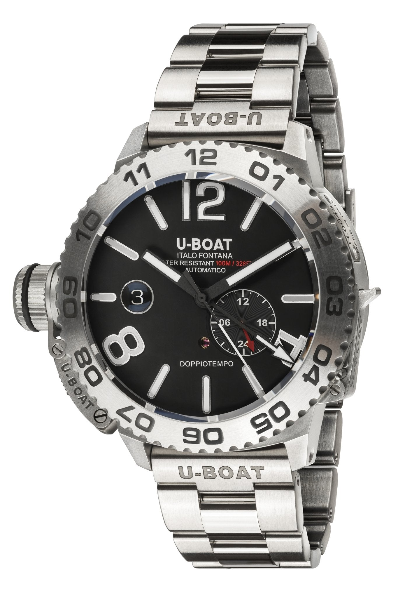 U-Boat Doppiotempo Date Stainless Steel - Watches & Crystals