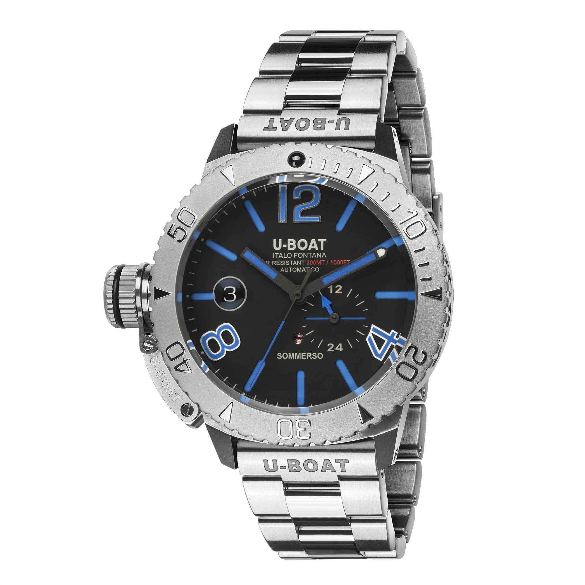 U-Boat Sommerso Diver Blue Stainless Steel - Watches & Crystals