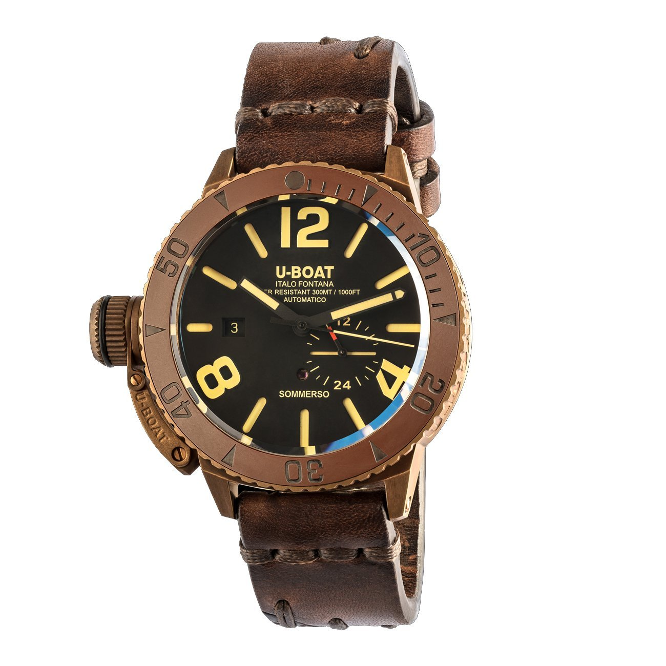 U-Boat Sommerso Men's Watch Diver Bronze Ceramic - Watches & Crystals