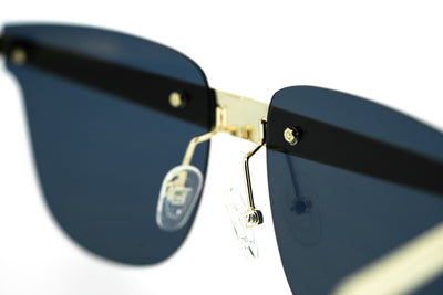 United Nude Sunglasses D-Frame Gold Black With Gold Yellow Mirror Lenses Category 3 UN2C3SUN - Watches & Crystals