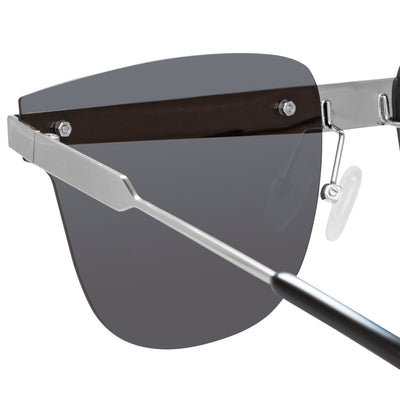 United Nude Sunglasses D-Frame Silver Black With Grey Lenses Category 3 UN2C2SUN - Watches & Crystals