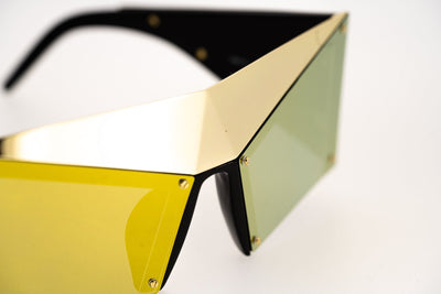 United Nude Sunglasses Special Gold Black With Gold Yellow Mirror Lenses Category 3 UN1C3SUN - Watches & Crystals