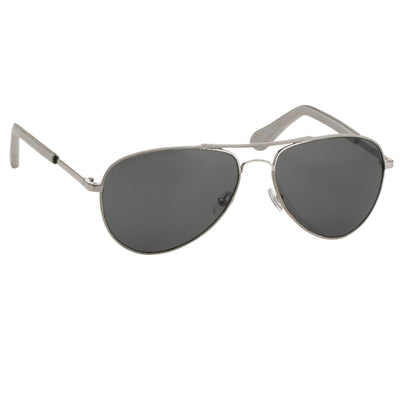Veronique Branquinho Sunglasses Grey Leather With Grey Lenses Category 3 VB1C15SUN - Watches & Crystals
