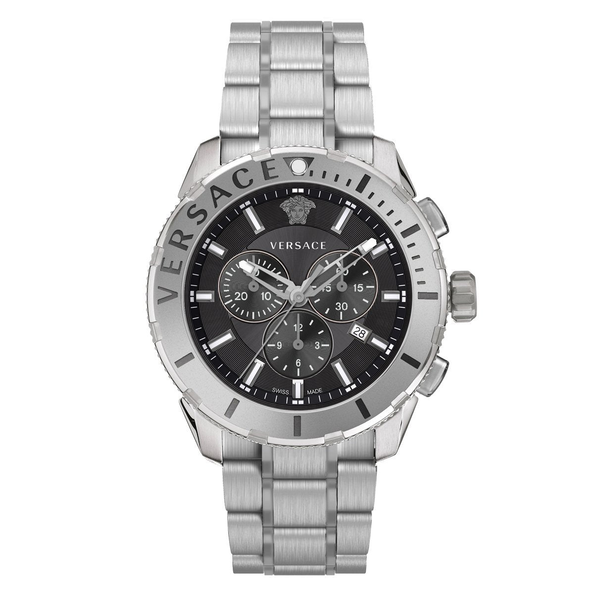 Versace Casual Chronograph Steel - Watches & Crystals
