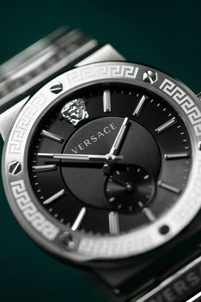 Versace Greca Logo Small Seconds - Watches & Crystals