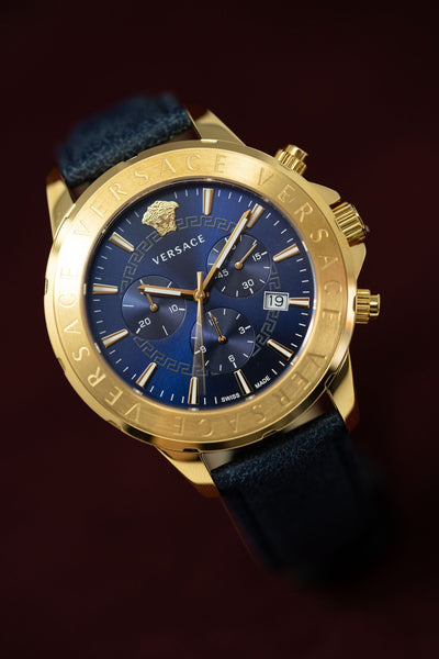 Versace Signature Chronograph Blue - Watches & Crystals