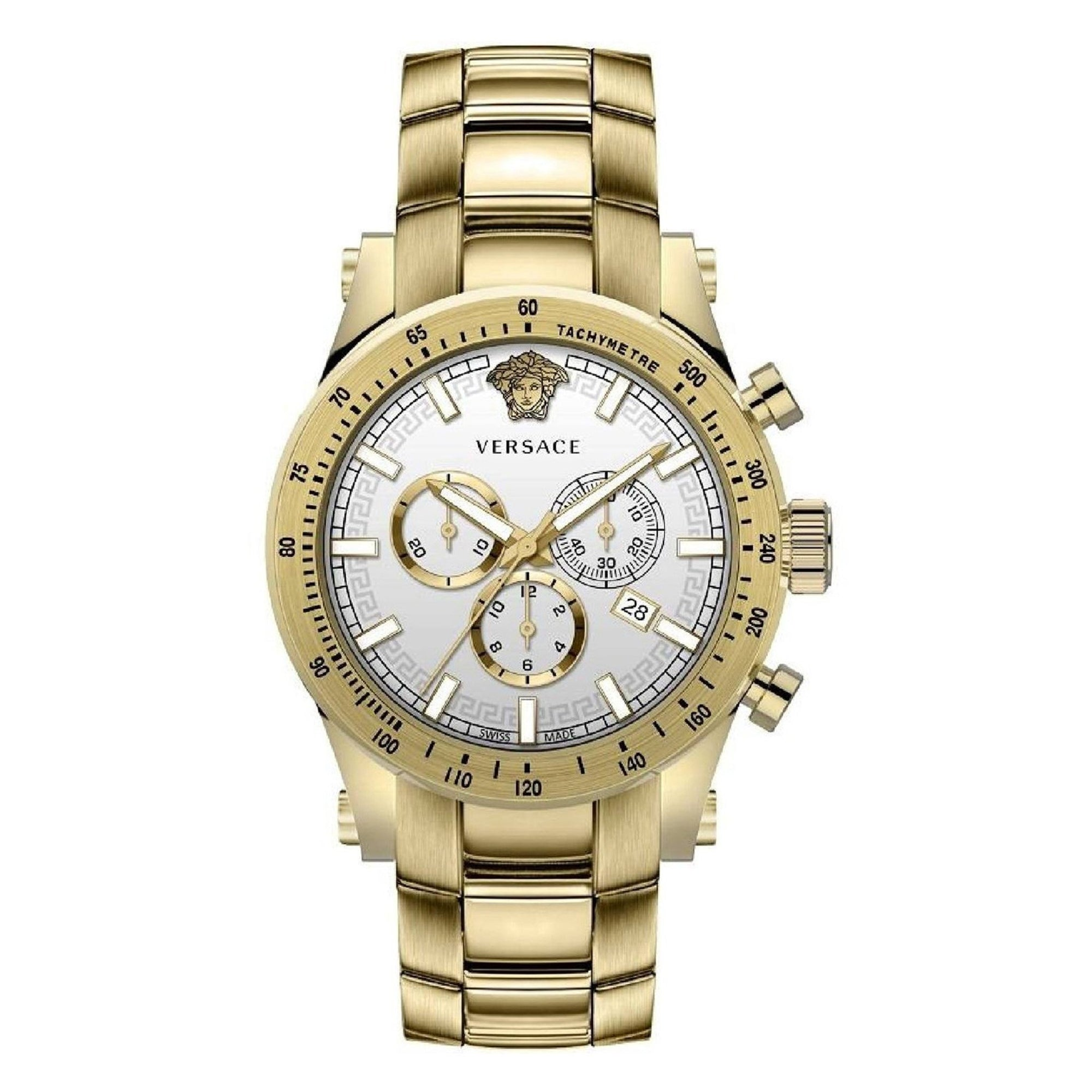 Versace Sporty Chronograph IP Gold - Watches & Crystals