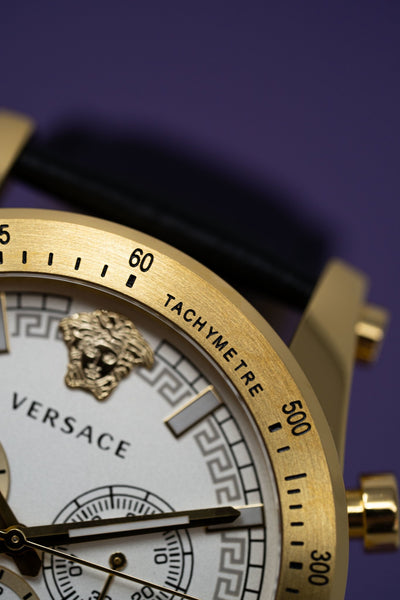 Versace Sporty Chronograph Leather Strap - Watches & Crystals