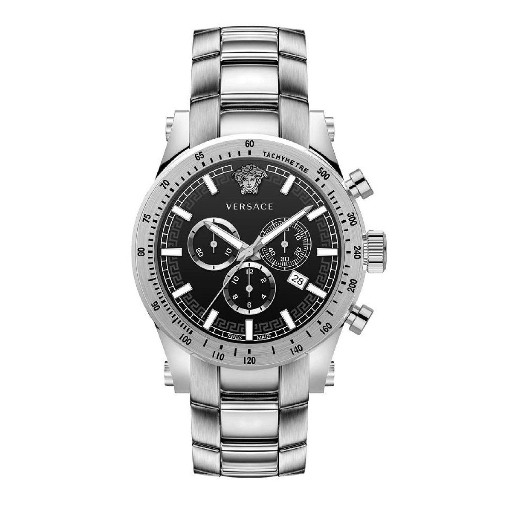Versace Sporty Chronograph Steel - Watches & Crystals