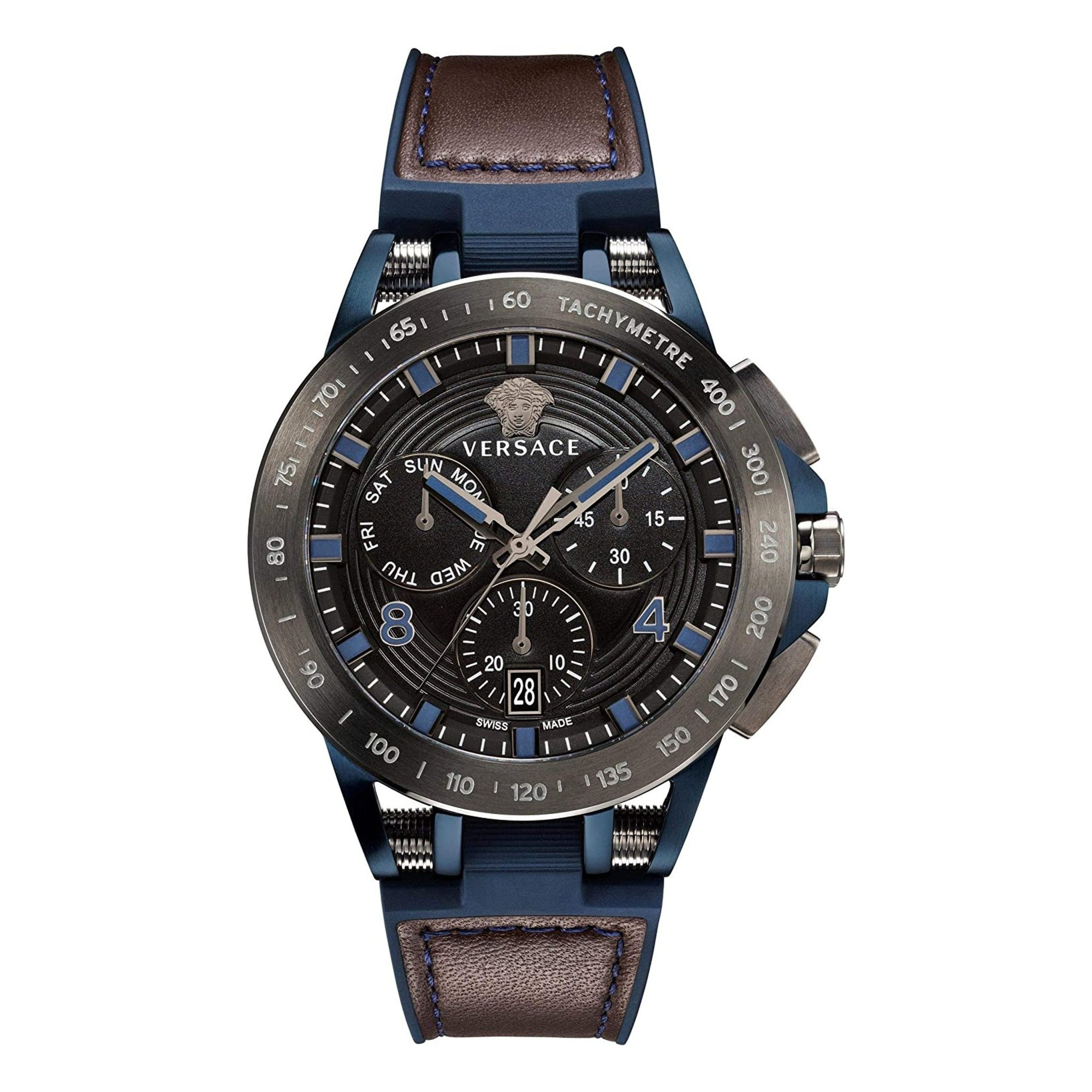 Versace Sporty Tech Chronograph Day & Date Black - Watches & Crystals