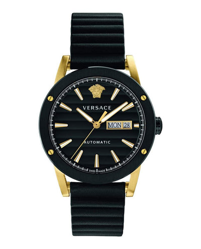 Versace Theros Day Date Black PVD - Watches & Crystals