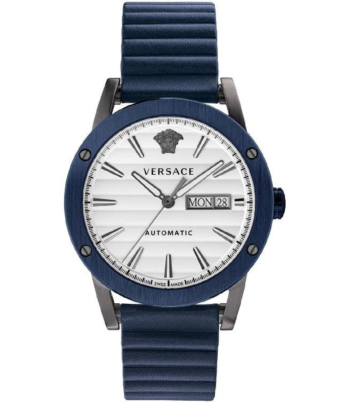 Versace Theros Day Date Blue PVD - Watches & Crystals