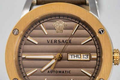 Versace Theros Day Date Brown - Watches & Crystals