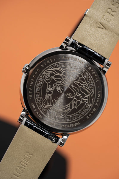 Versace V-Circle Stainless Steel - Watches & Crystals