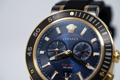 Versace V-Extreme GMT Blue - Watches & Crystals