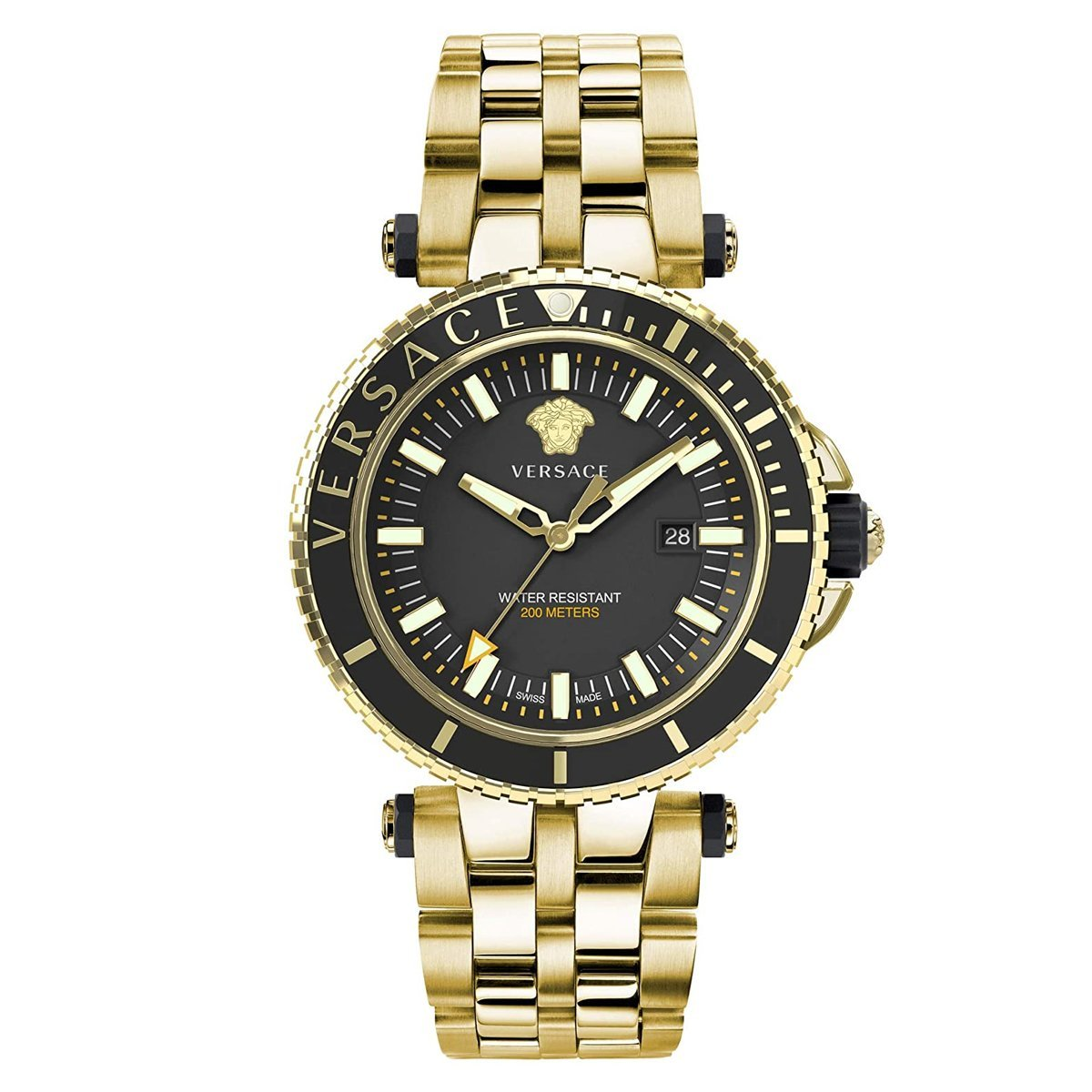 Versace V-Race Diver Gold Plated