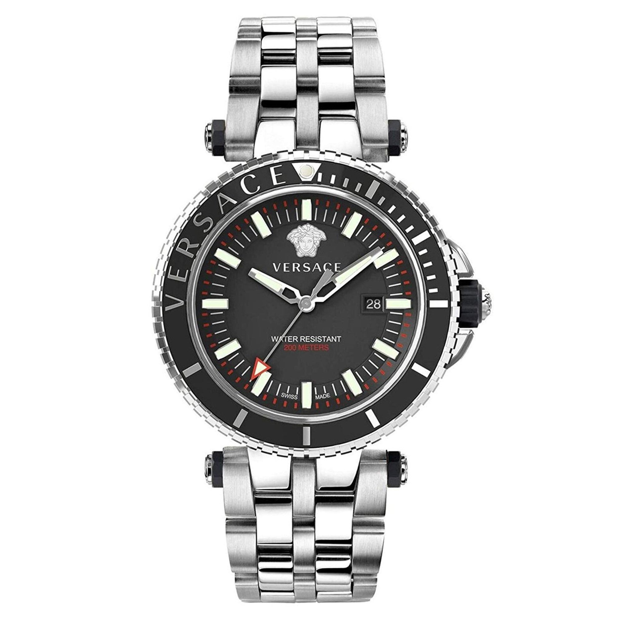 Versace V-Race Diver Stainless Steel