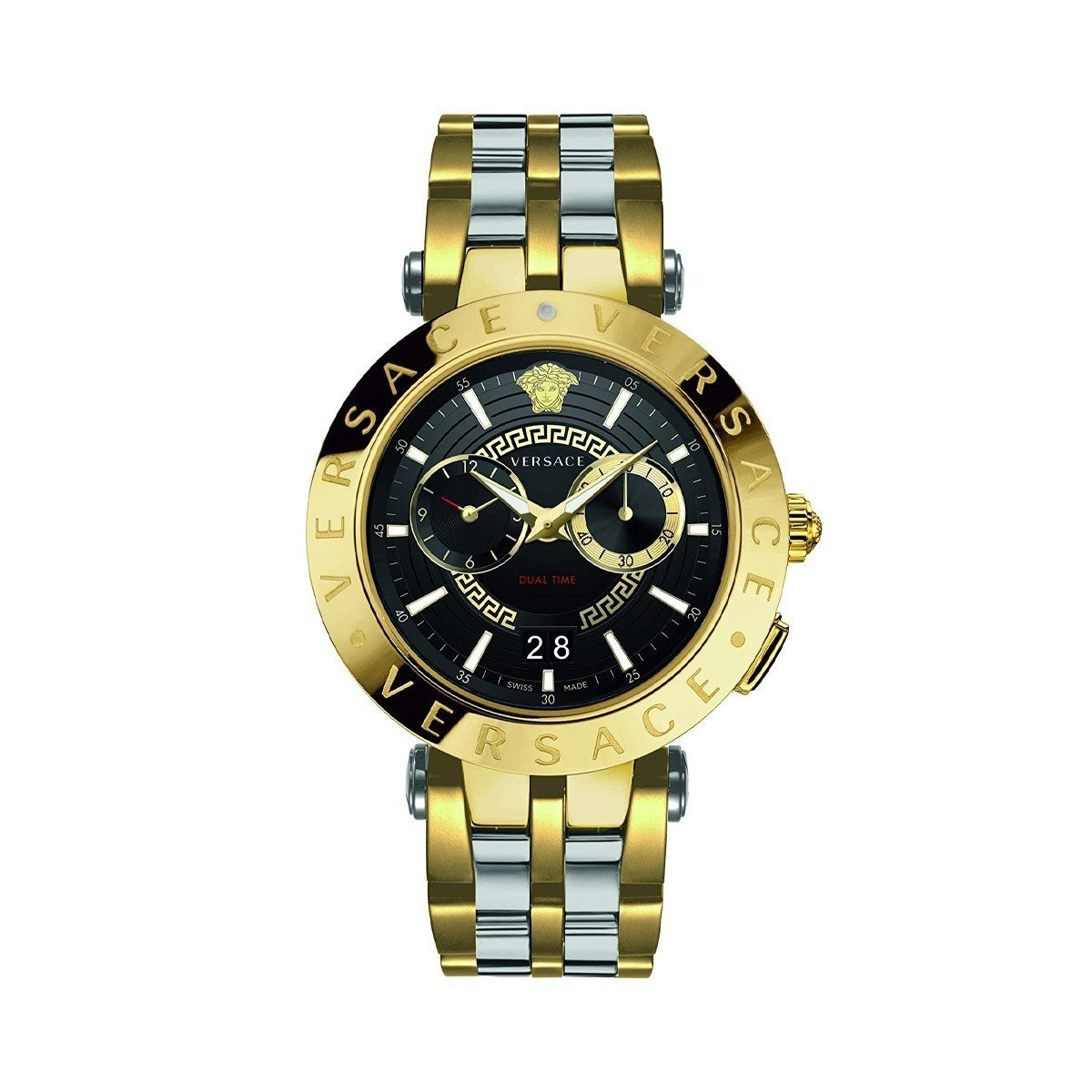 Versace V-Race GMT IP Gold - Watches & Crystals