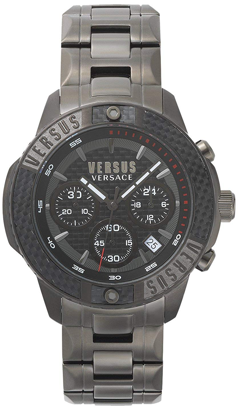 Versus Versace Admiralty Chronograph Gun Metal - Watches & Crystals