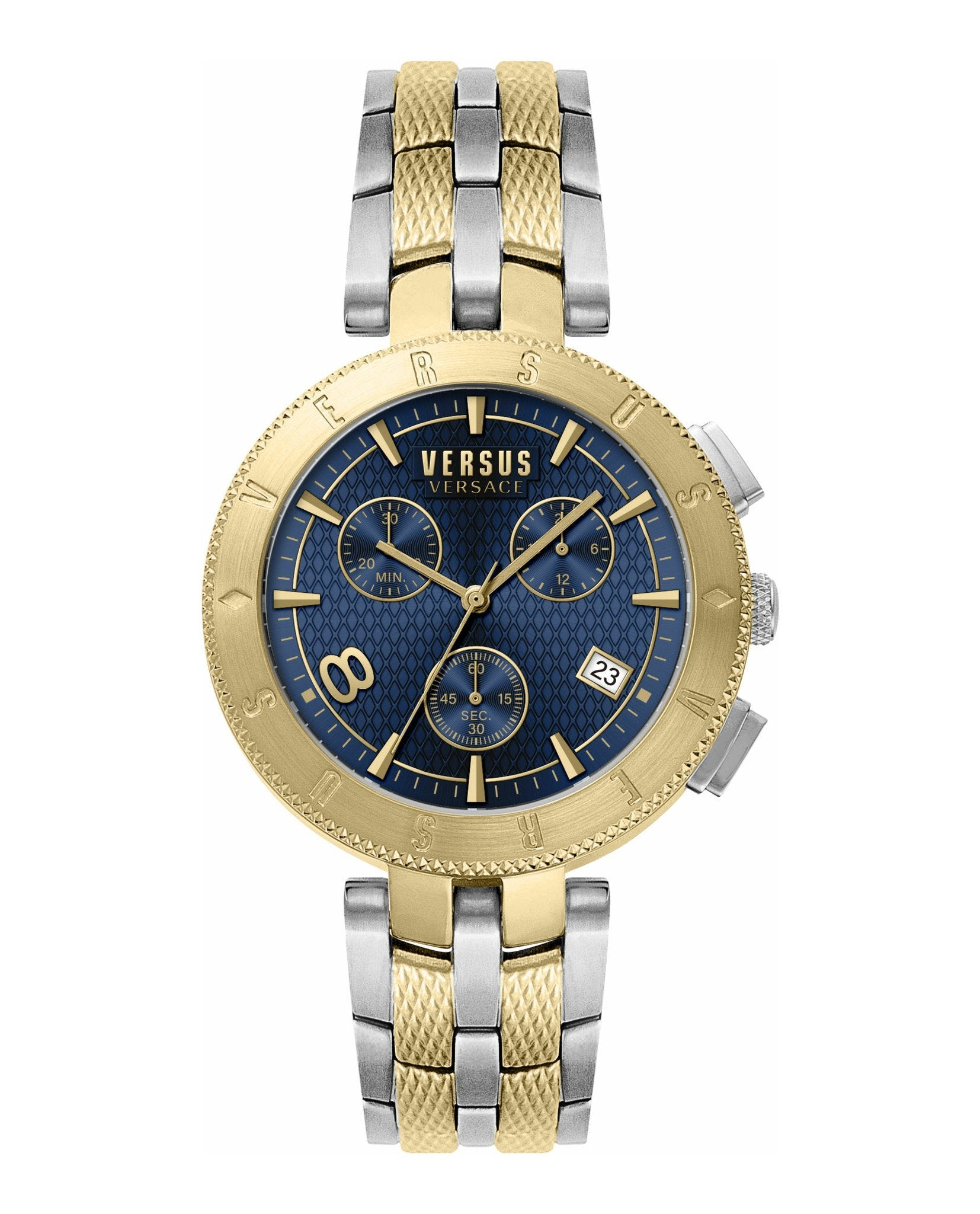Versus Versace Logo Chronograph Two Tone - Watches & Crystals