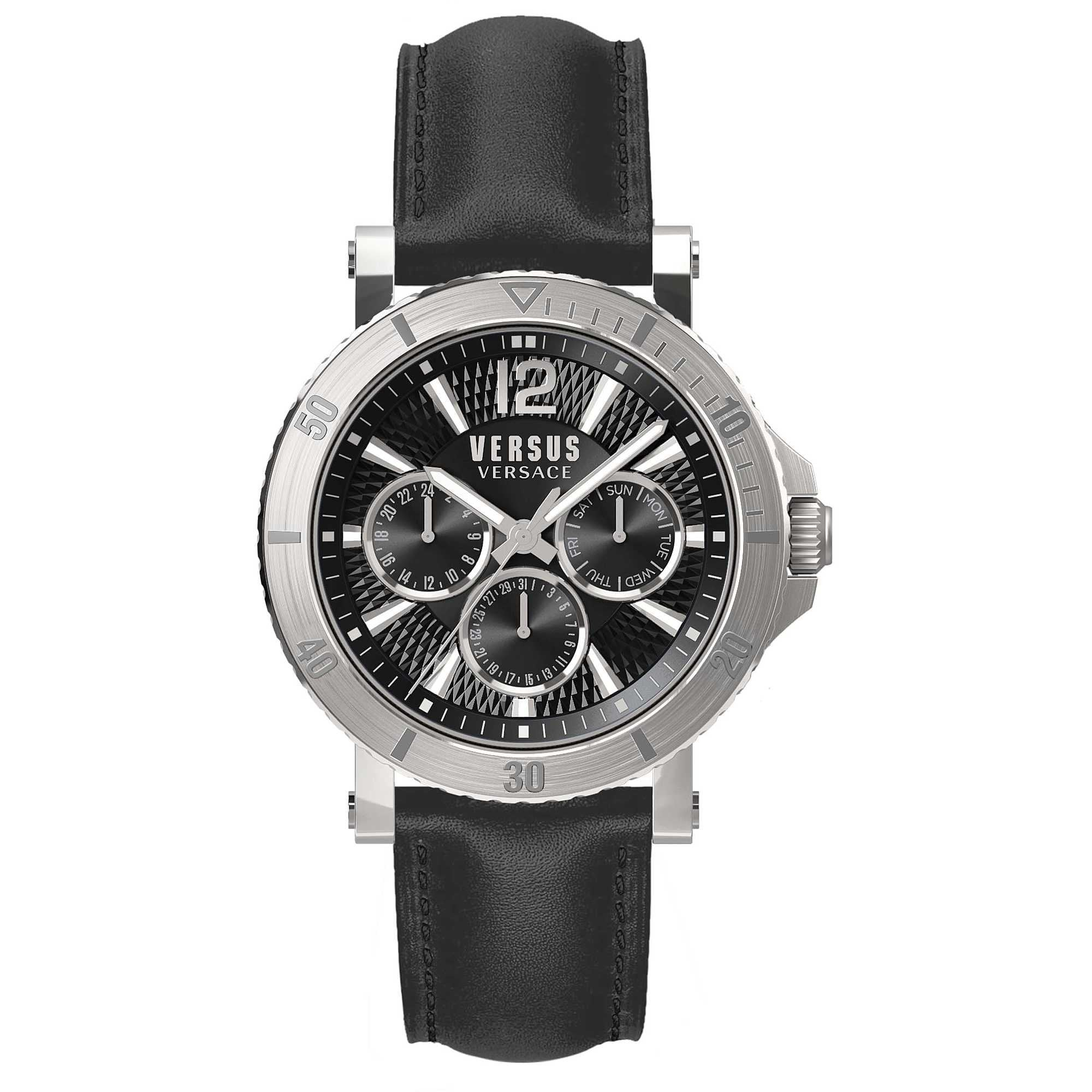 Versus Versace Steenberg Day & Date Black - Watches & Crystals