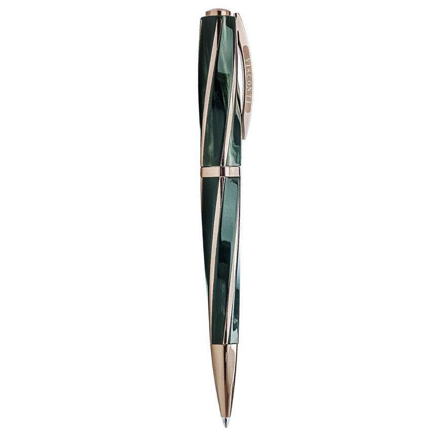 Visconti Divina Elegance Green and Rose Gold Ballpoint Pen KP18-02-BP - Watches & Crystals